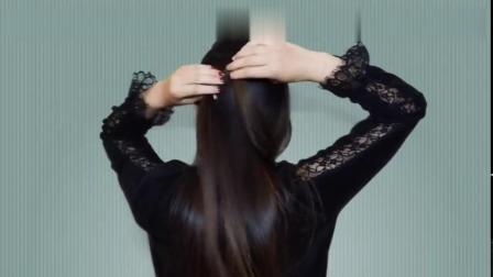 真人示范编发,40岁的长发女人必备发型,气质不显老