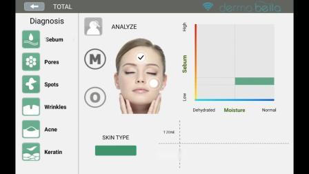如何测试水分和油分_Dermobella Skin_Android