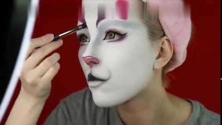 美妆教程-开始以为小姐姐画艺伎妆,完成后被惊艳到了,超美