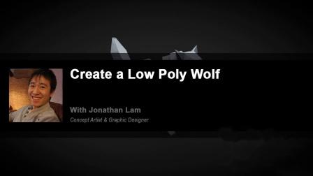 C4D教程 低面模Low Poly风格狼建模渲染无缝背景教程