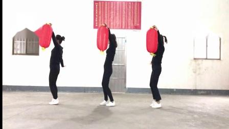 蔡堡村广场舞《吉祥中国年》灯笼舞    喜庆欢快特色舞