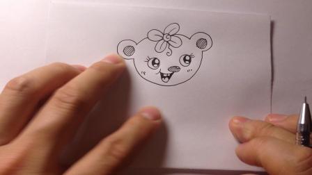 新年12生肖简笔画.鼠