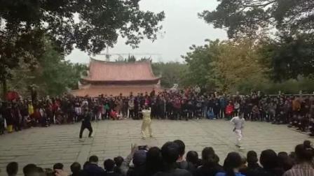 泉州少林寺2019年新春团拜会白鹤拳表演正面