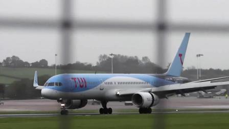地面,途易航空(TUI)757侧风8级中降落布里斯托尔机场(BRS)