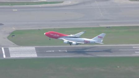地面,TNT快捷747香港持鬣角国际机场(HKD)重载起飞