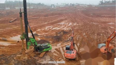 泰信机械(TYSIM)KR220旋挖钻机施工视频