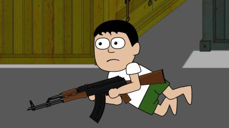 吃鸡搞笑动画:为了添包不管队友死活,最后一身豪华装备,却得到天谴!