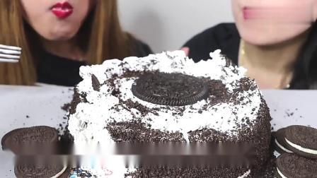 奥利奥冰淇淋蛋糕、奥利奥饼干,超好吃!