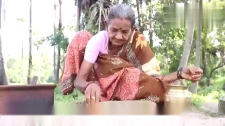 印度老奶奶煮咖喱土豆泥,伴着白米饭手抓着吃,十里飘香超级棒