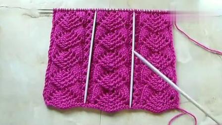 一款特别高雅的毛衣编织花样,织冬季毛衣最合适