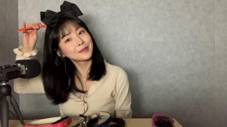 ☺ There is no noise ☺ 미세먼지 낀 머리카락 빗기 (feat. 머리띠) ㅣ Hair brushing