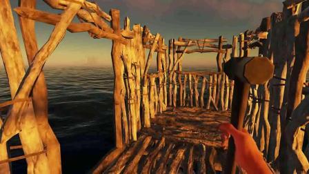 荒岛求生25:建造二层钓鱼台成功啦,还有鲨鱼围绕