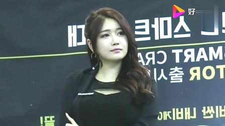 韩国车展上的美女车模,往那一站瞬间成为靓丽