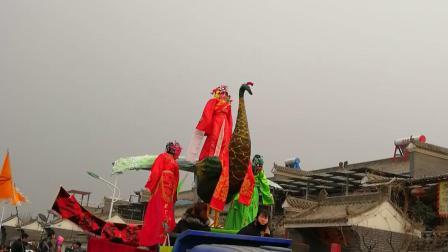 高科技社火会动的孔雀陕西省西安市长安区清水头VID20190216171404