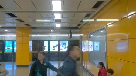 广州地铁2号线夜间专车广州南站出站 下站 洛溪 嘉禾望岗方向 a4贴窗拍摄
