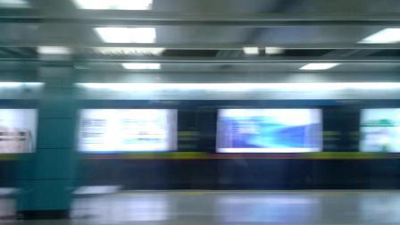 广州地铁2号线夜间专车南洲不停站通过 奔赴昌岗途中 嘉禾望岗方向 a4贴窗拍摄