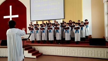 赞美诗12颂主化功歌-牟平基督教堂圣诗班献唱