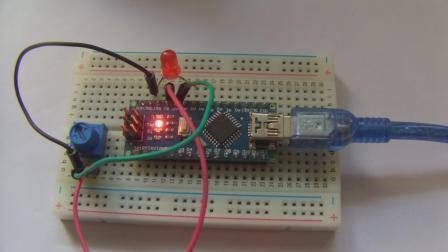 玩转Arduino图形化编程基础版9-LED调光灯(ADC)