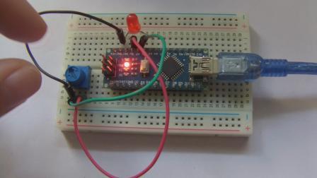 玩转Arduino图形化编程基础版10-LED调光灯2(PWM)