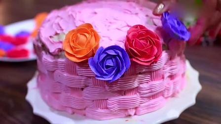 """国外达人创意""""花篮""""蛋糕,看着就别致,好有食欲"""