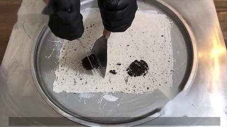 奥利奥雪糕和酸奶一起做成了炒冰淇淋!学会了再也不用出去买啦