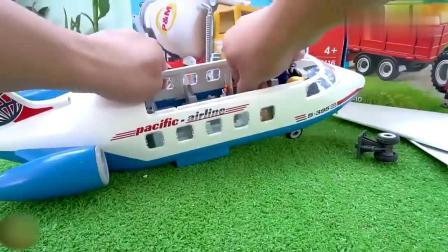 儿童益智!拖拉机消防车起重车玩具组装