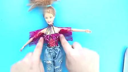 给芭比娃娃做乞丐裤包包等迷你物品,做法简单,手工diy