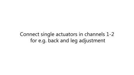 力纳克家庭系列—安装单马达驱动推杆系统实现休闲床按摩功能