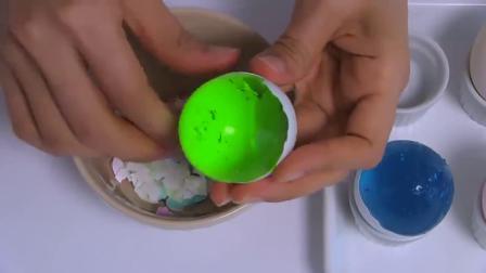 亲子早教益智,和宝宝一起做晶莹剔透的彩色蛋,认颜色