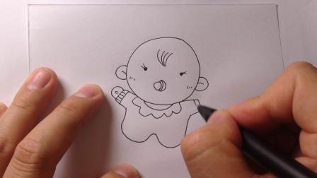 卡通人物简笔画.婴儿宝宝