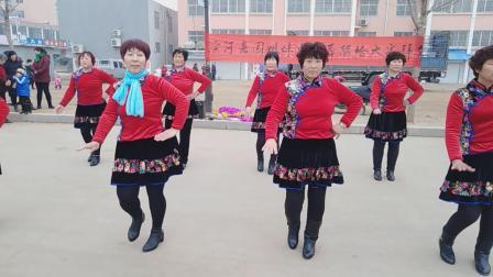 济南市莱芜区大王庄滨河家园2019贺岁广场舞《万喜中国喜》