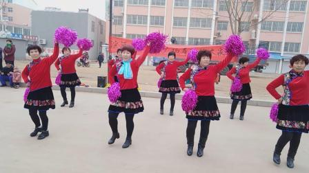 济南市莱芜区大王庄滨河家园2019贺岁广场舞《开门红》