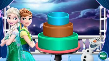爱莎和安娜做美味的大蛋糕   冰雪奇缘游戏
