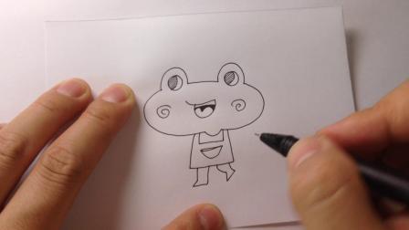可爱动物简笔画.小青蛙