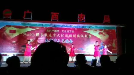 037广西防城港那良镇2019元宵晚会滩散舞蹈队表演想你想不够