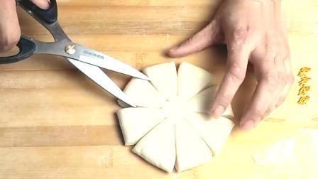 教你用一张面饼做好看的花型馒头,做法特简单,你不试试