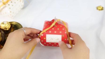 波点蛋糕小糖盒 折叠视频