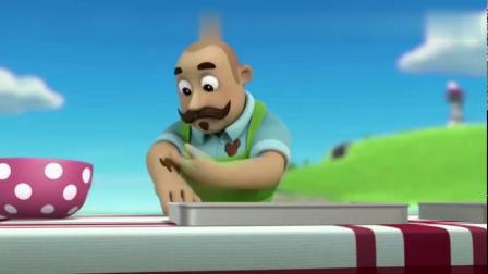 汪汪队立大功-波特先生真是个大厨,他竟用蛋糕还原了汪汪队总部