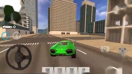 汽车模拟器2018兰博基尼绿色跑车安卓游戏机4