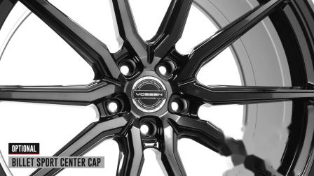 Vossen Hybrid Forged HF-3 Wheel _ Double Tinted Gloss Black Standard Finish