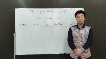 英语语法 第十课:不规则复数名词5(英文)