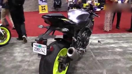 真是帅!车展实拍雅马哈R1S摩托车