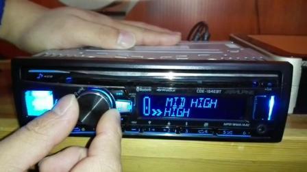 阿尔派CDE-163EBT及164CD机设置主动三分频?看完你就明白!