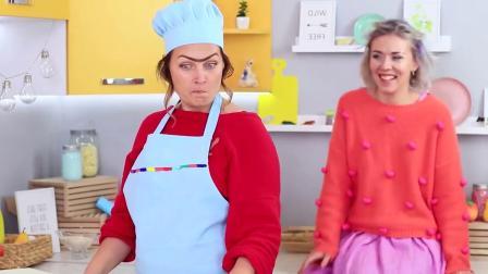 爆笑食物创意恶作剧:吃货闺蜜互整不可思议食物,披萨当被!