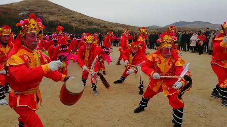 海阳市朱吴镇虎龙庄秧歌队在海阳市地雷战景区演出完整版