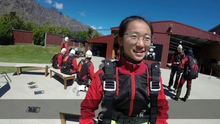 马宇涵新西兰万米高空跳伞