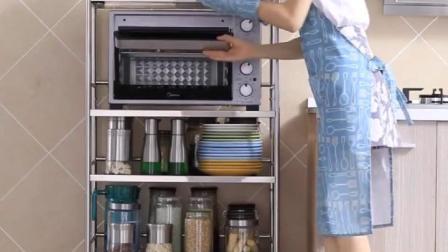 厨房置物架微波炉架子落地多层不锈钢--厂家跑量网