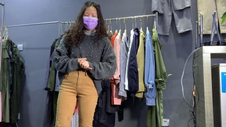 华荣服饰19春季新款小款西装外套组合包女装走份