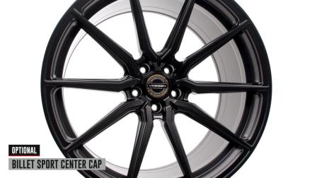 Vossen Hybrid Forged HF-3 Wheel _ Satin Black Custom Finish