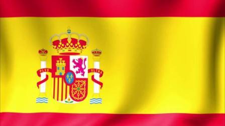 西班牙国旗三维循环动画素材(7702)1440P